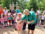 Viļānos ierīkots aktīvais atpūtas laukums bērniem