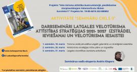 Aicinām uz otro darbsemināru Latgales velotūrisma attīstības stratēģijas izstrādei!
